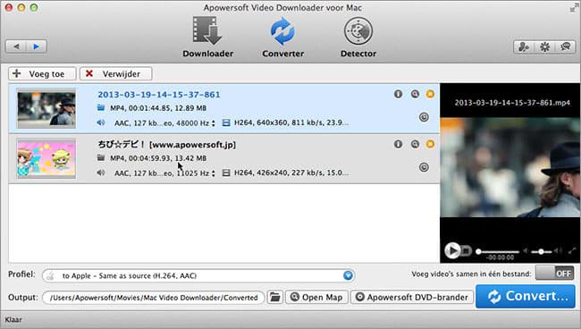 Apowersoft Video Downloader voor Mac