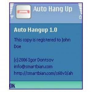 Auto Hang Up
