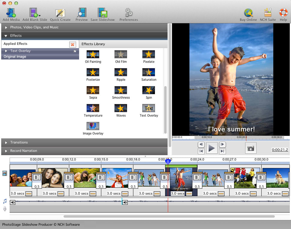 Photostage Slideshow Maker Free for Mac (Mac) - Download