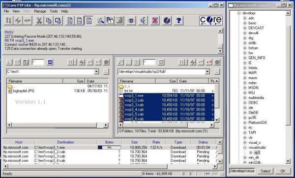 Core FTP Lite