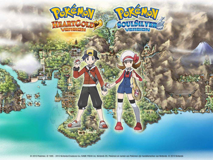 Pokemon HeartGold and SoulSilver Screensaver