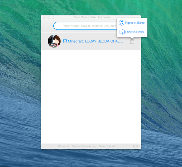 FLVTO Online Video Converter for Mac