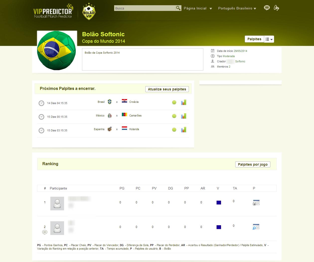 Vip Predictor - Bolão Vip