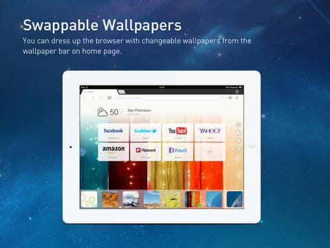 UC Browser+ na iPad