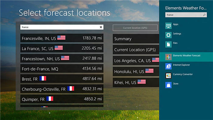 Elements Weather Forecast voor Windows 10