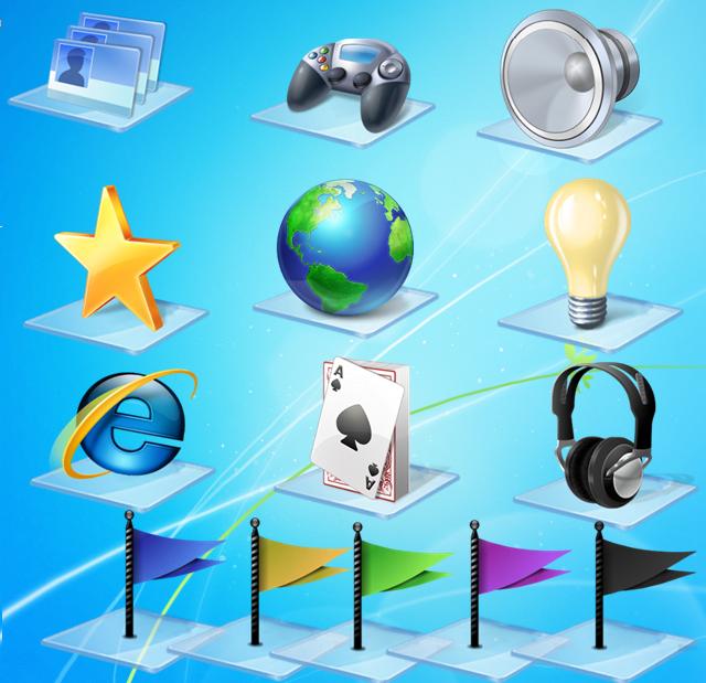 Ikony Windows 7 Libraries