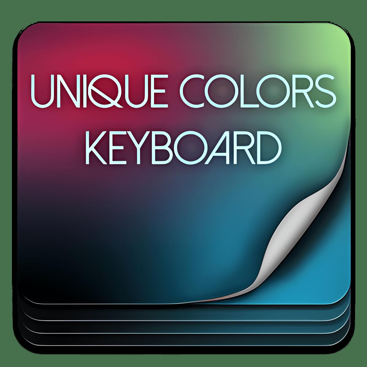 Colores únicos teclado