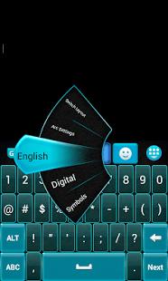GO Keyboard Azul y Negro