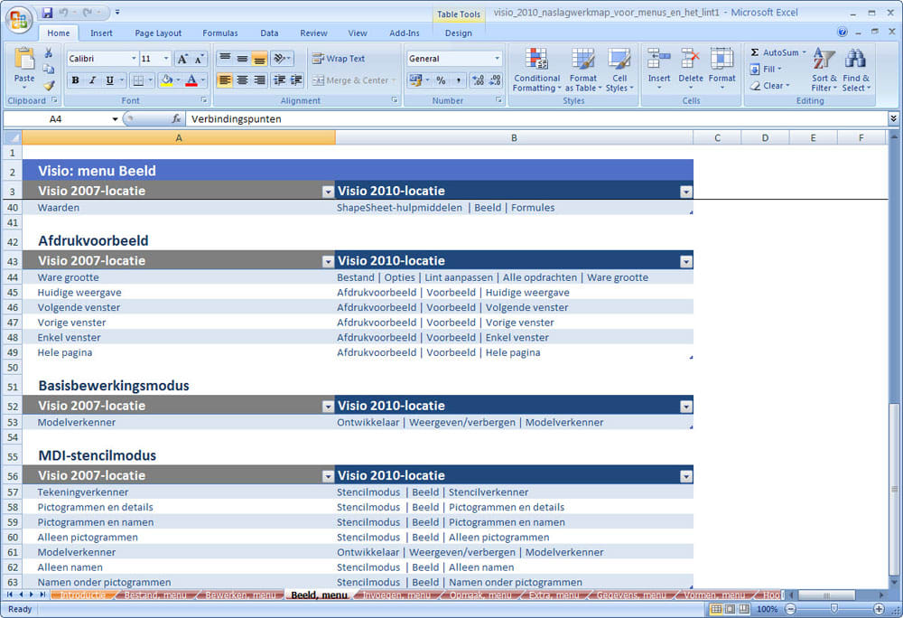 Office 2010 Naslagwerkmappen