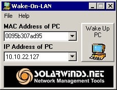 SolarWinds Wake-On-LAN