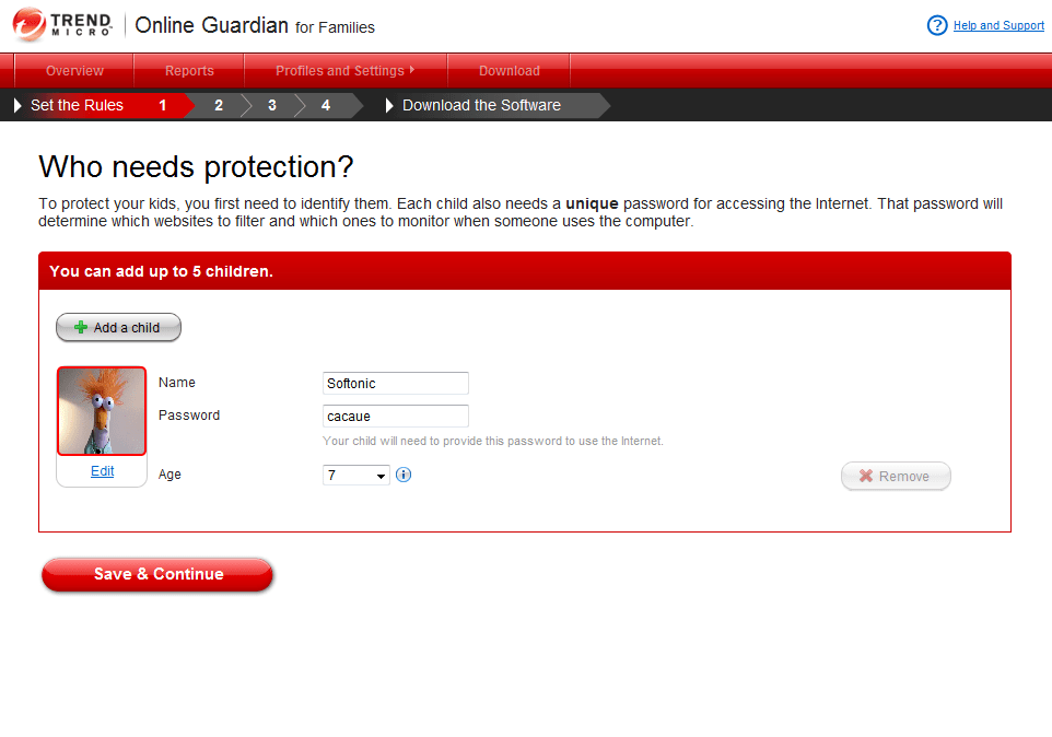Trend Micro Online Guardian for Families
