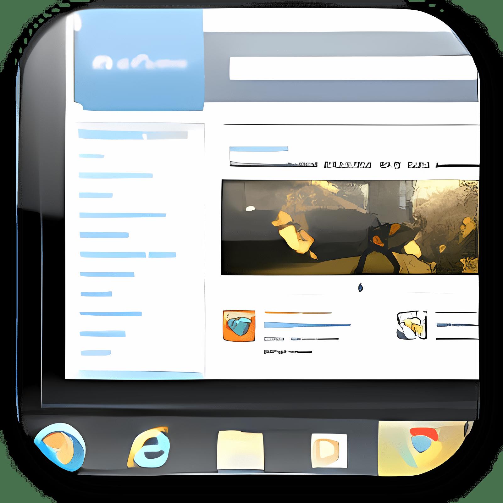 Windows 7 Taskbar Big Preview