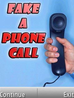 Fake a phone call