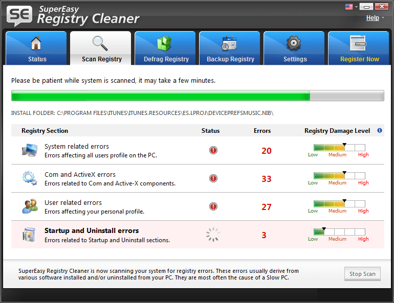 how to clean pc registry