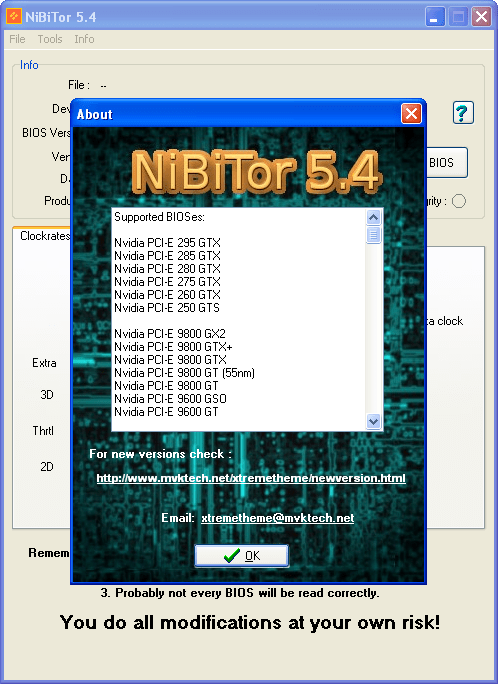 NVIDIA BIOS Editor (NiBiTor)