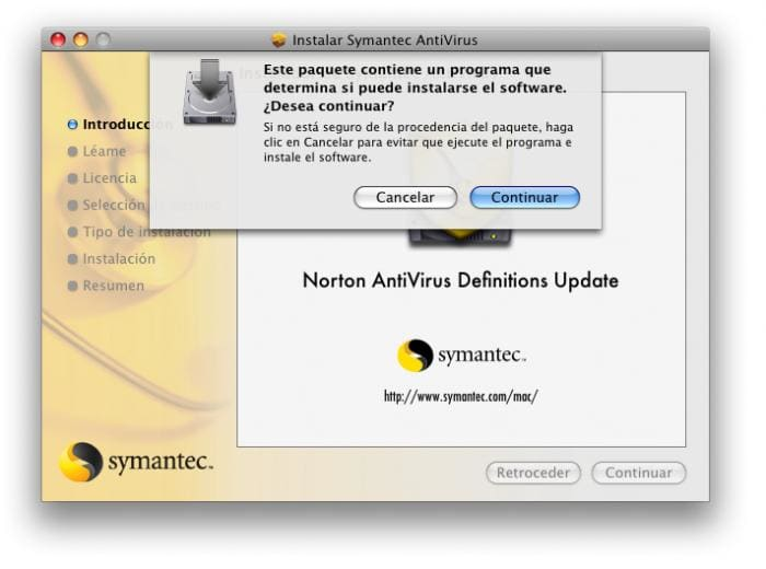 Norton AntiVirus 9.0 Definiciones