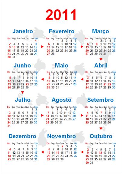Calendário Anual 2011