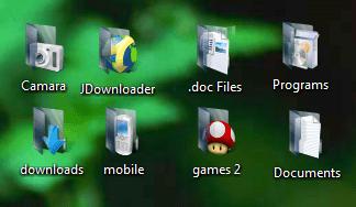 Black Seven Folder Icon Pack