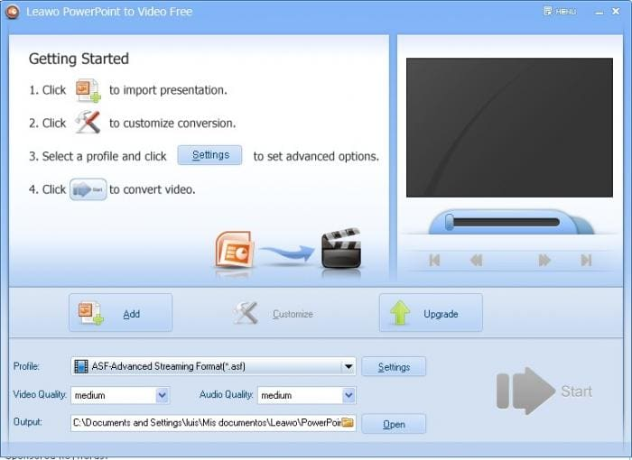 Leawo PowerPoint to Video Free