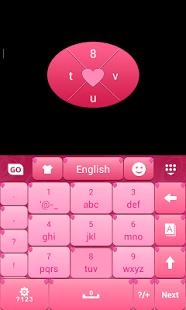 Amor Pink Keyboard Theme
