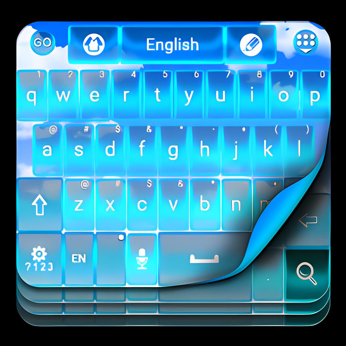 Blue Sky Keyboard Theme