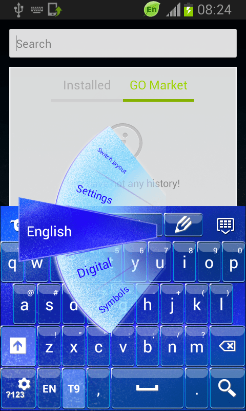 Blue Keyboard Glass