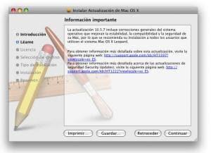 Mac OS X 10.5.7 Update