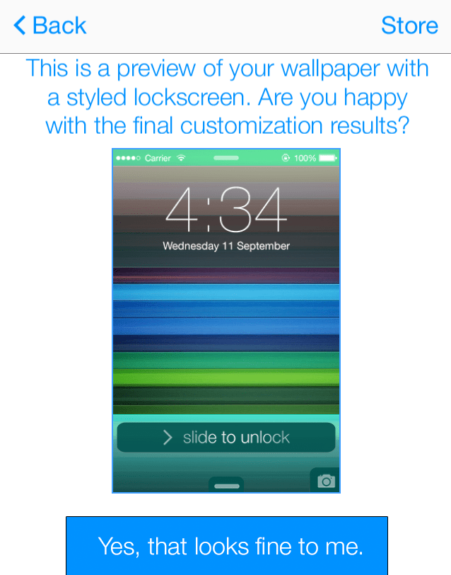 LockScreen voor iOS7