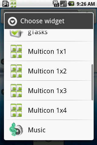 Multicon Widget