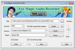 Fox Magic Audio Recorder