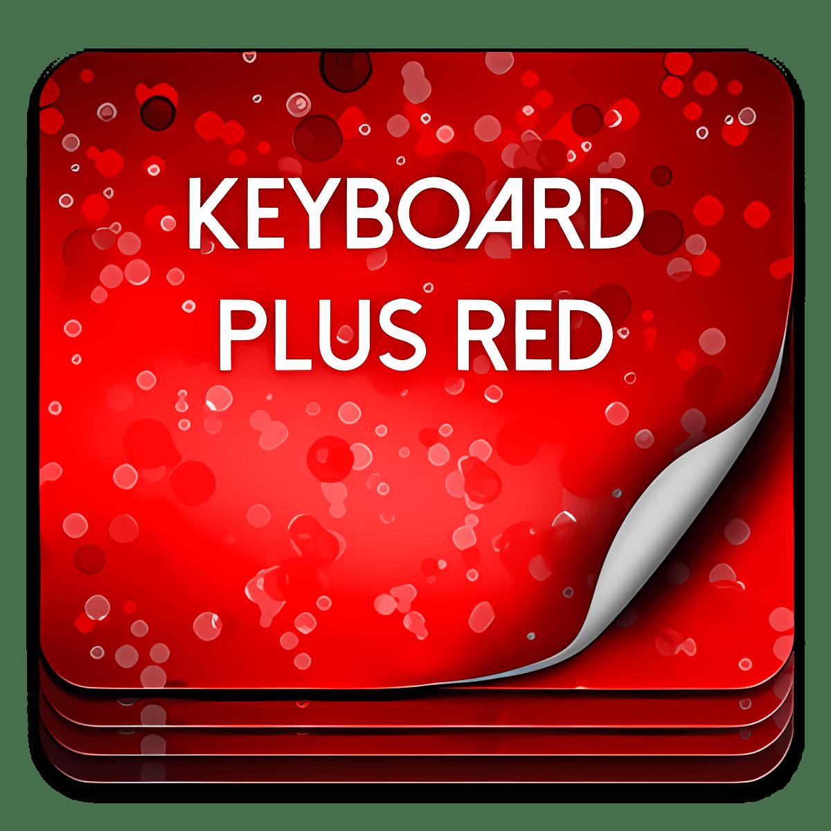 Keyboard Plus Rojo