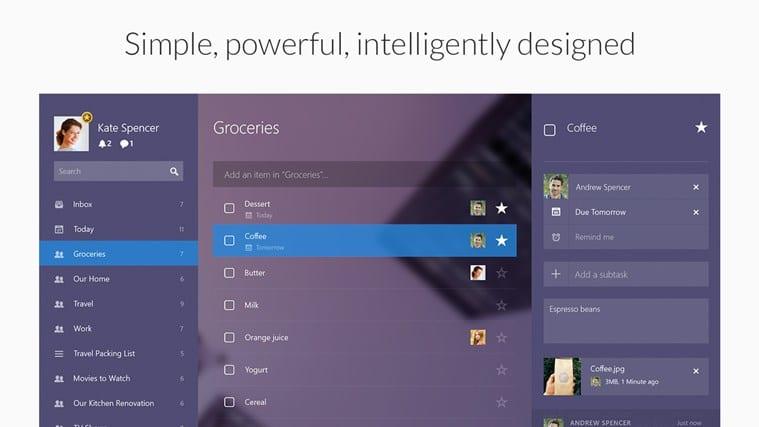 Wunderlist for Windows 10