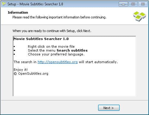 Movie Subtitles Searcher