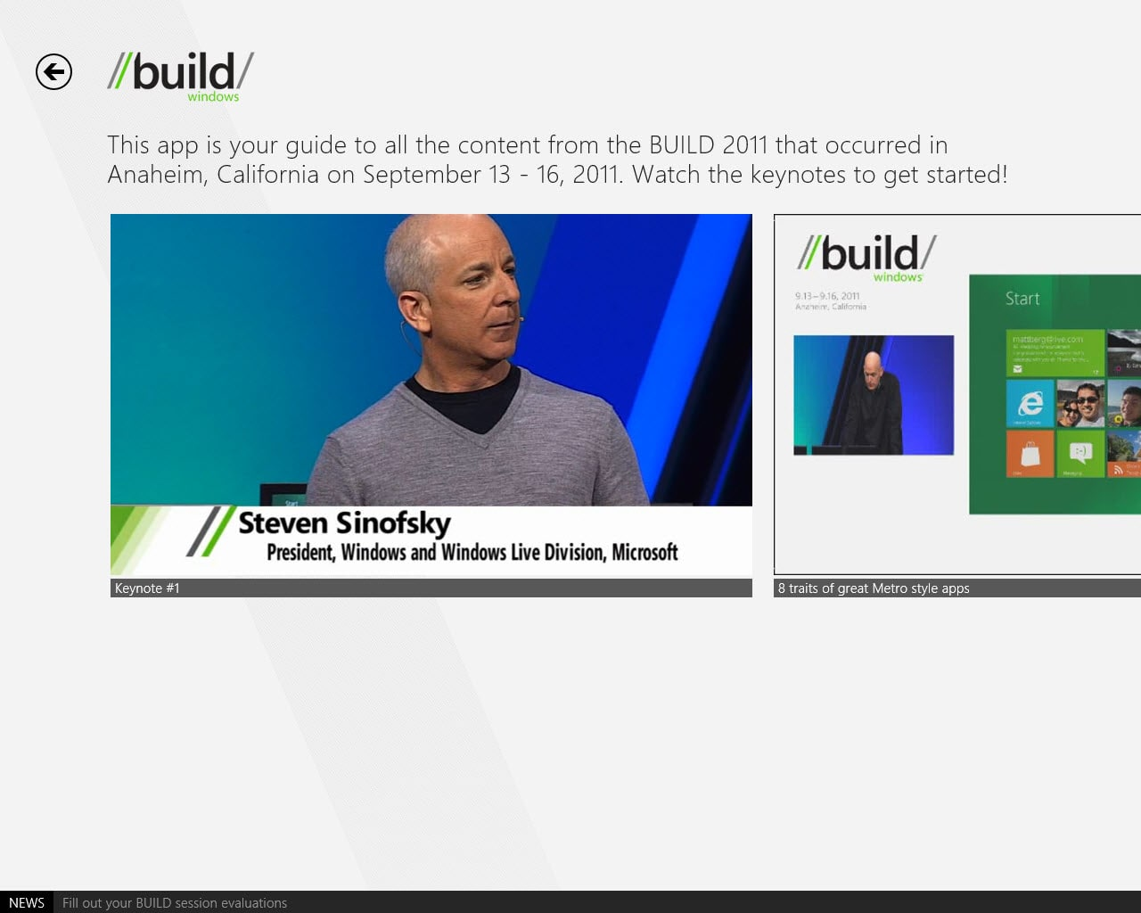 BUILD para Windows 10