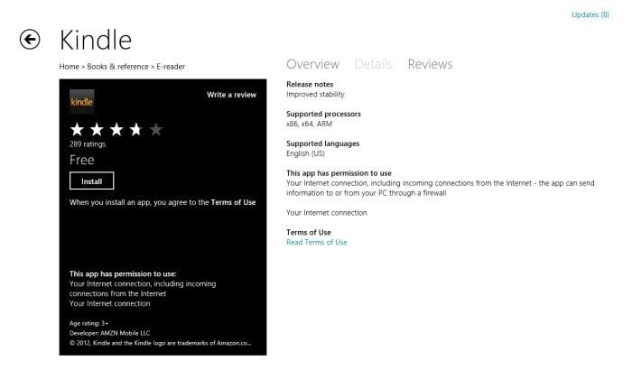 Kindle voor Windows 10