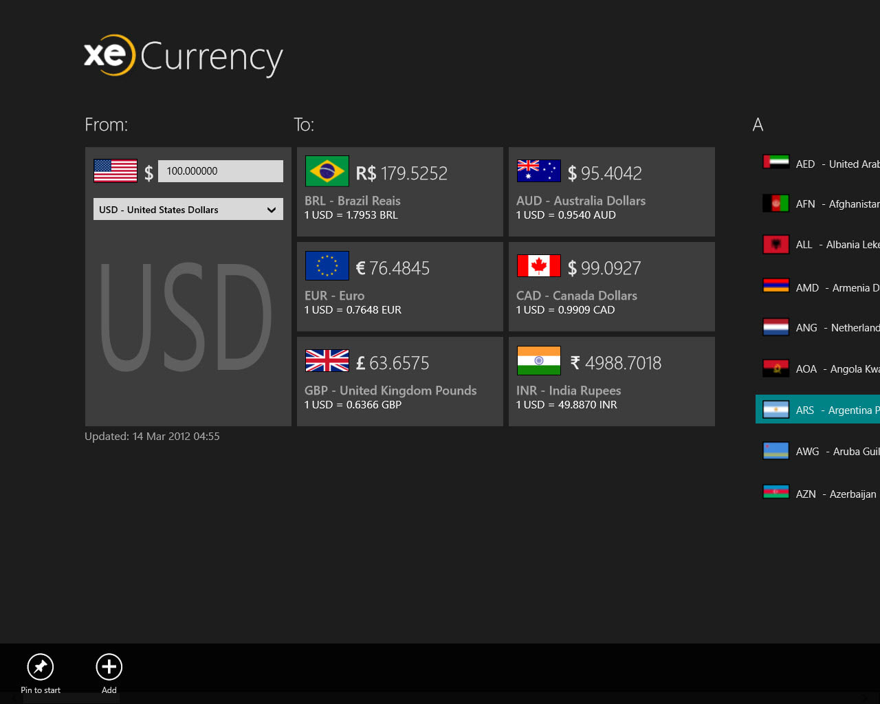 XE Currency para Windows 10