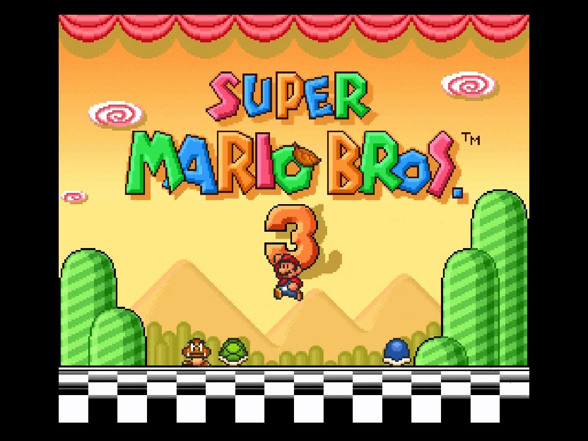 Super Mario Bros. 3 (SNES) Screensaver