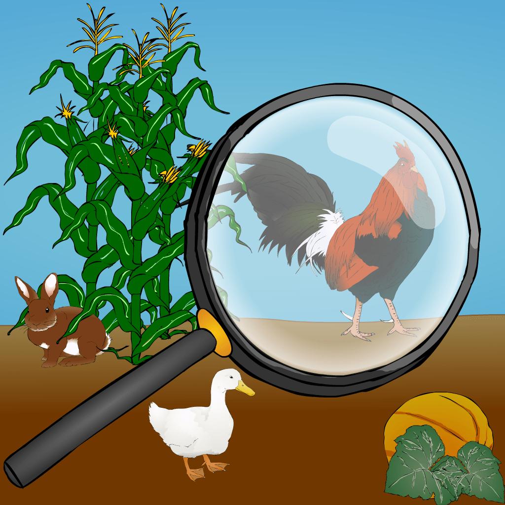 Encuentre los animales de establo ocultos