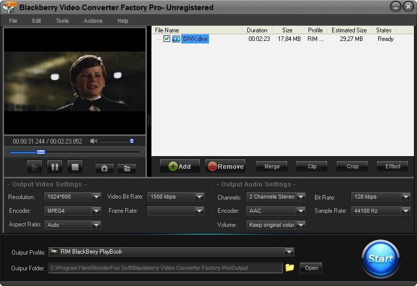 Blackberry Video Converter Factory Pro