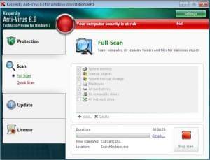 Kaspersky Anti-Virus pour Windows 7