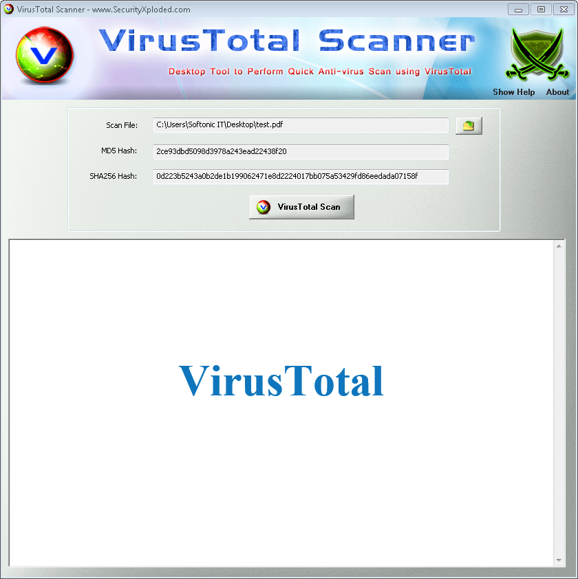 Virus Total Scanner
