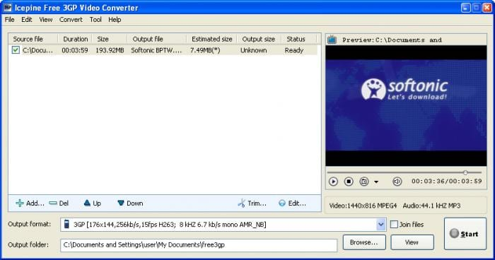 Icepine Free 3GP Video Converter
