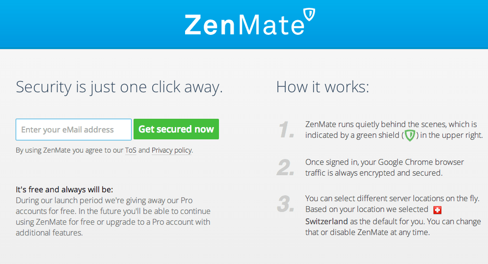 Free Zenmate For Chrome