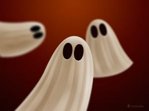 Halloween Ghosts Papel de Parede