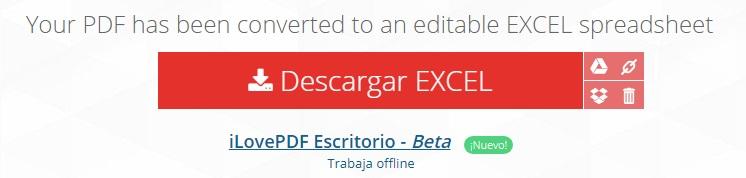 Cómo convertir un archivo PDF a Excel