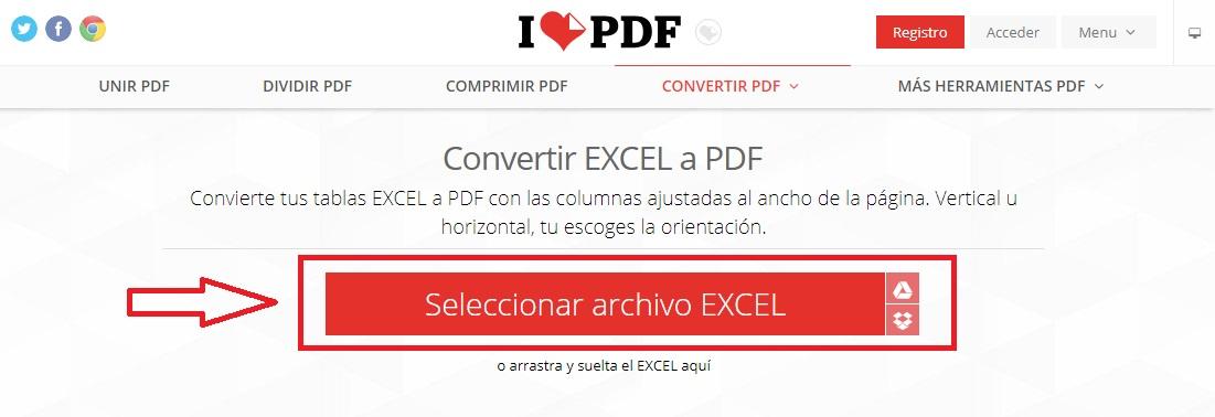 Cómo convertir un archivo Excel a PDF