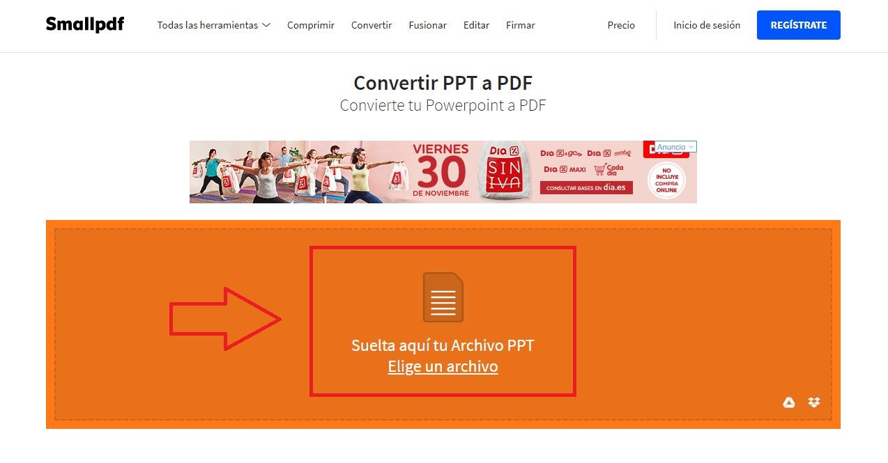 Cómo convertir un archivo Powerpoint a PDF