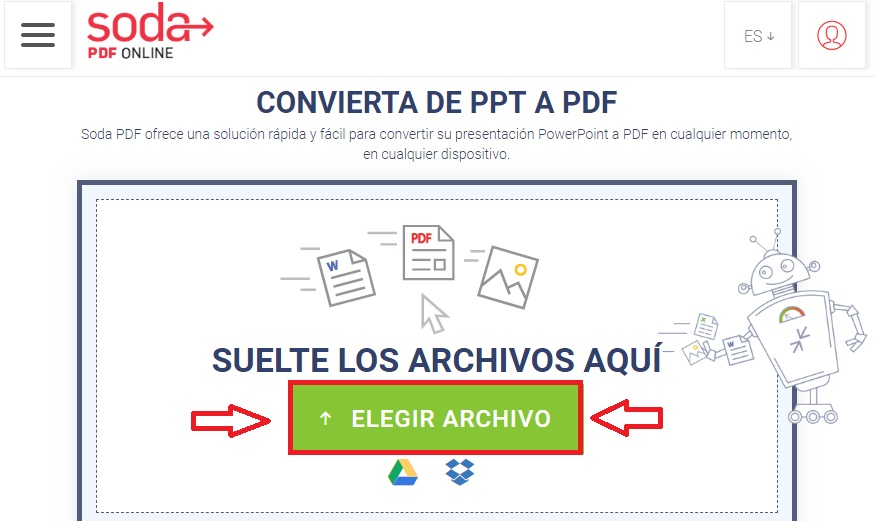 de pdf a ppt