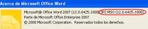 Service Pack 2 para Microsoft Office 2007