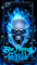Blue Fire Skull Live Wallpaper